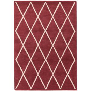 ALBANY DIAMOND piros szőnyeg