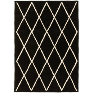 ALBANY DIAMOND fekete szőnyeg 80x150 cm