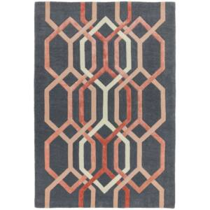 MATRIX 66 HEXAGON fekete szőnyeg