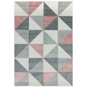 SKETCH CUBIC pink szőnyeg