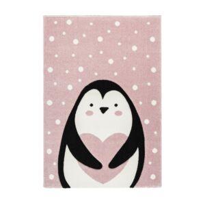 AMIGO 325 pink gyerekszőnyeg pingvines