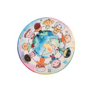 MyJUNO 477 világ gyerekszőnyeg 80 cm kör