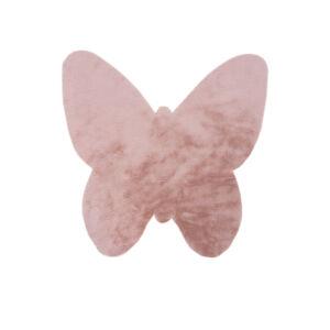 MyLUNA 855 púderszínű gyerekszőnyeg pillangó 86x86 cm
