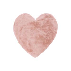 MyLUNA 859 púderszínű gyerekszőnyeg szív 86x86 cm