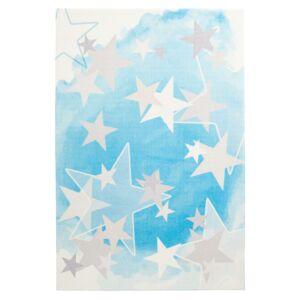 MySTARS 410 kék gyerekszőnyeg csillagokkal