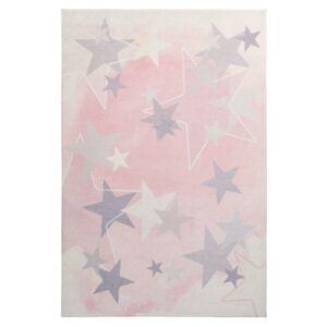 MySTARS 410 pink gyerekszőnyeg csillagokkal