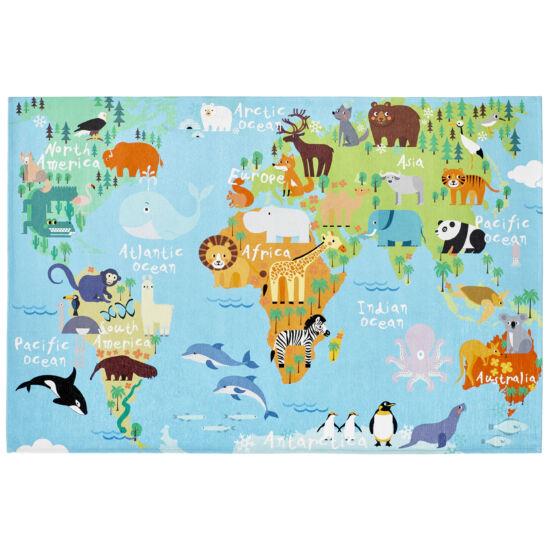 MyTORINO KIDS 233 világtérkép gyerekszőnyeg 80x120 cm
