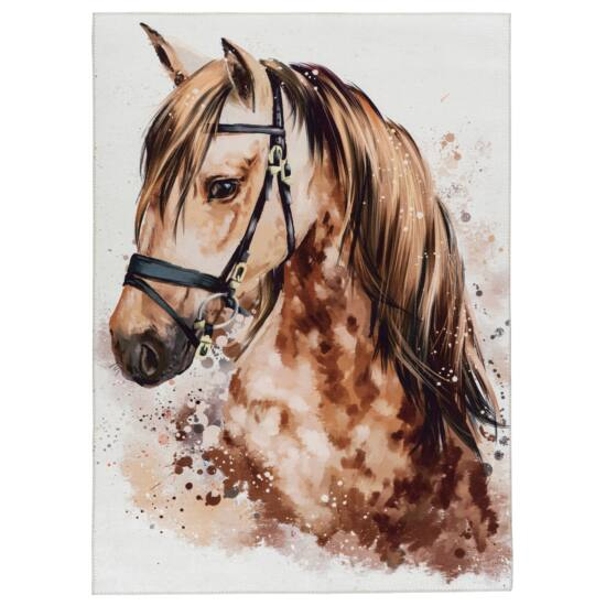 MyTORINO KIDS 236 barna lovas szőnyeg 80x120 cm